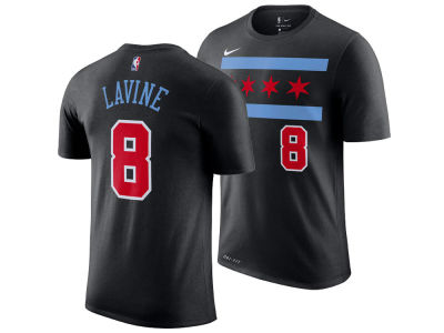 Chicago Bulls Zach LaVine Nike 2018 NBA Men's City Player T-shirt