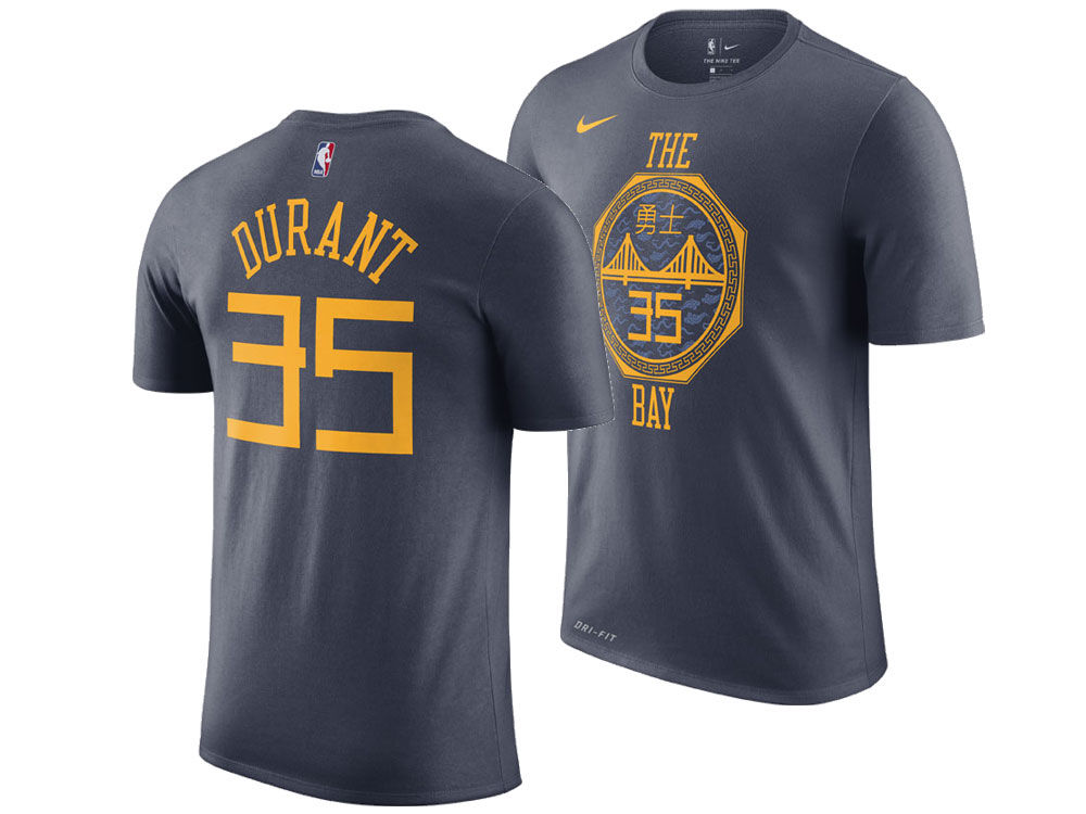 Golden State Warriors Kevin Durant Nike 2018 NBA Men s City Player T-shirt   fb2c1203e
