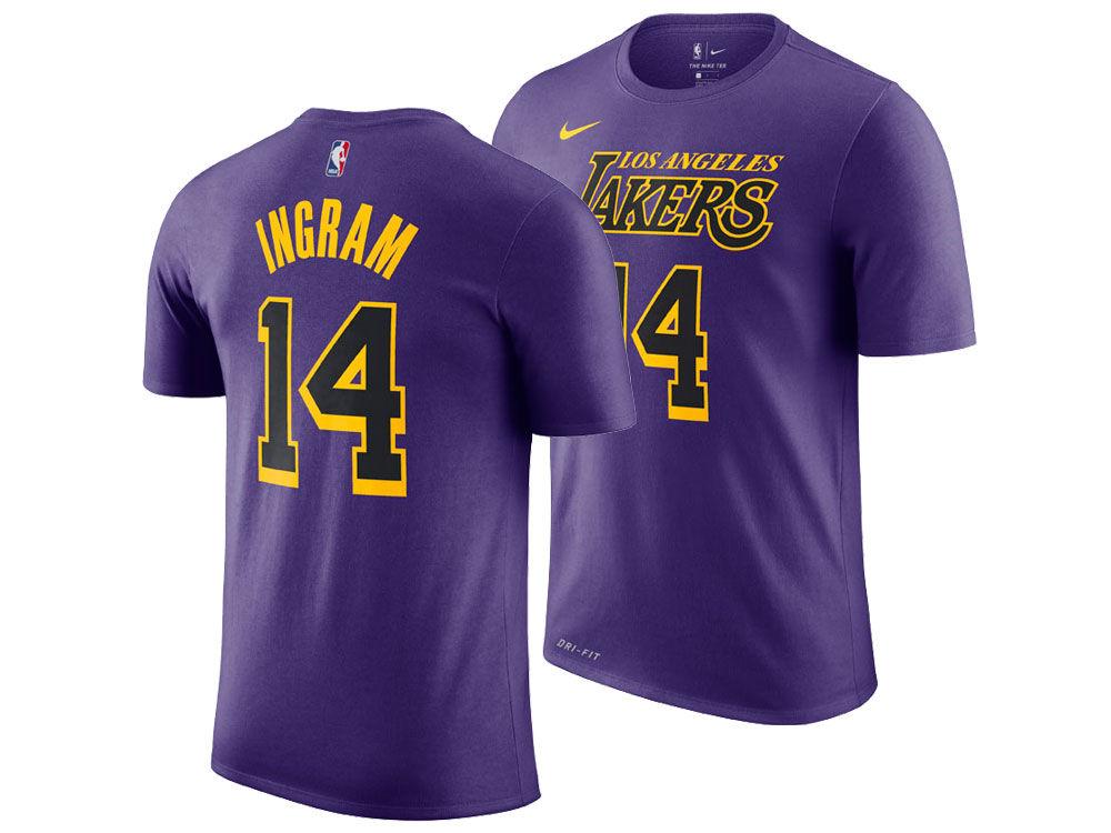 Los Angeles Lakers Brandon Ingram Nike 2018 NBA Men s City Player T-shirt  100ac9371