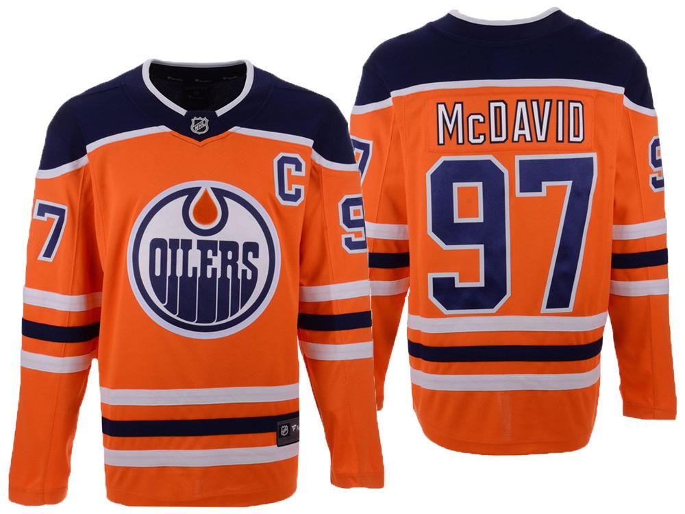 3bd207e6c Edmonton Oilers Connor McDavid NHL Branded NHL Men s Breakaway Player Jersey