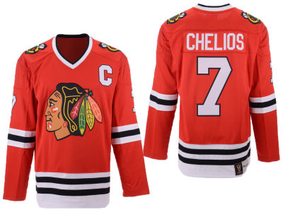 Chicago Blackhawks Chris Chelios NHL Branded NHL Men's Heritage Breakaway Jersey