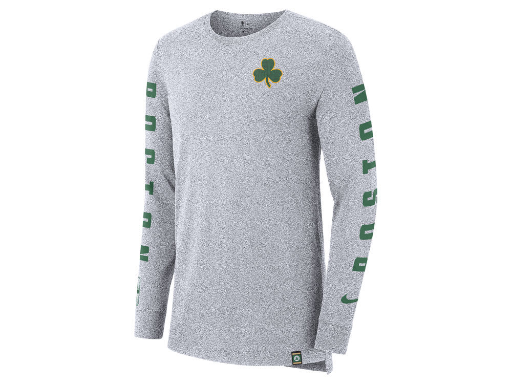 Boston Celtics Nike NBA Men s City Elevated Long Sleeve Dry T-Shirt ... 15d31d345