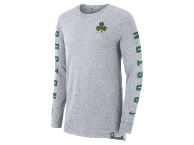 Boston Celtics Nike NBA Men's City Elevated Long Sleeve Dry T-Shirt