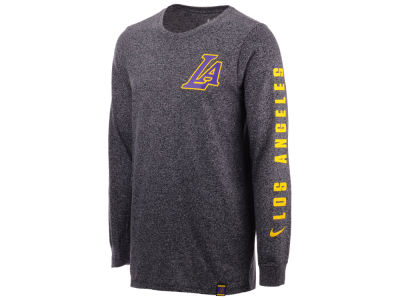 Los Angeles Lakers Nike NBA Men's City Elevated Long Sleeve Dry T-Shirt