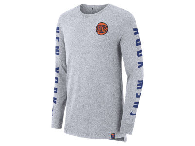 New York Knicks Nike NBA Men's City Elevated Long Sleeve Dry T-Shirt
