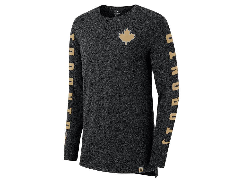 Toronto Raptors Nike NBA Men s City Elevated Long Sleeve Dry T-Shirt ... 9a4969aa6