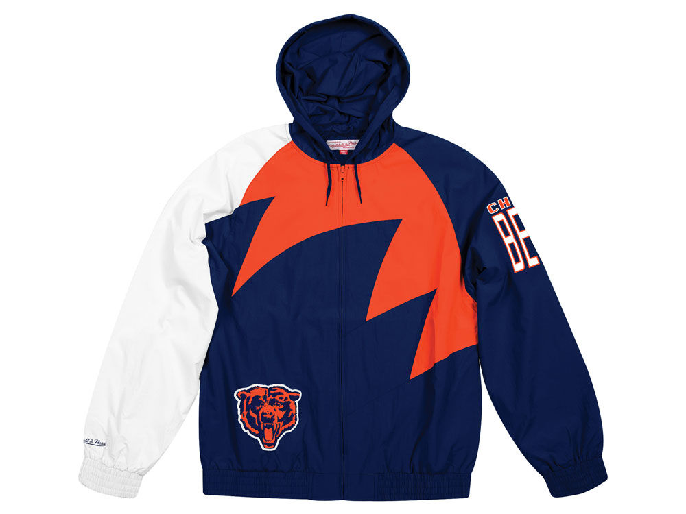 8c86550039a Chicago Bears Mitchell   Ness NFL Men s Shark Tooth Jacket. Top. Chicago ...