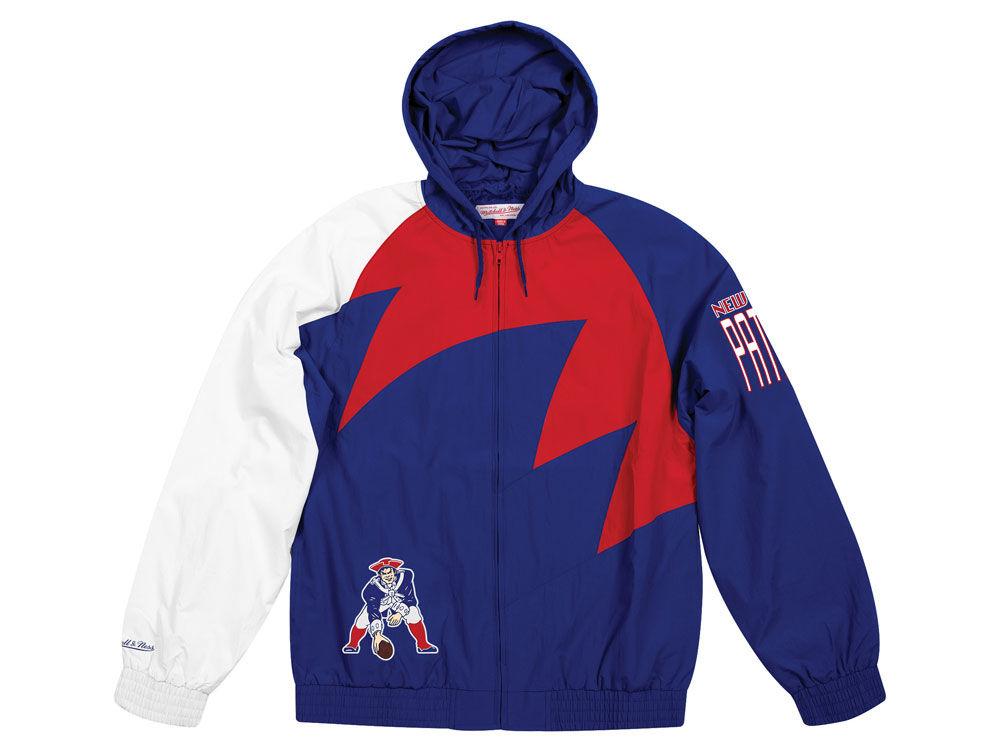New England Patriots Mitchell   Ness NFL Men s Shark Tooth Jacket ... 5d4a6324b