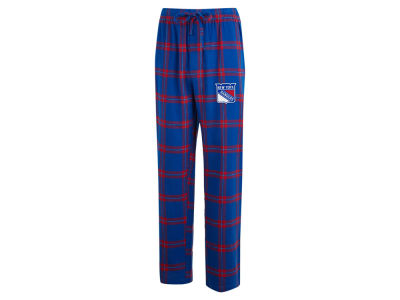 New York Rangers Concept Sports NHL Men's Homestretch Flannel PJ Pant