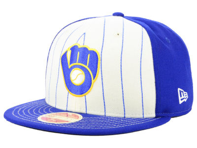 Milwaukee Brewers New Era MLB Vintage Front 59FIFTY Cap