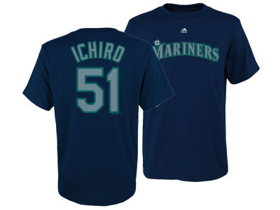 Seattle Mariners Ichiro Suzuki Majestic MLB Youth Official Player T-Shirt