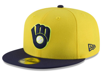 Milwaukee Brewers New Era 2018 MLB Kids Players Weekend 59FIFTY Cap