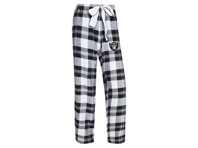 Oakland Raiders Concept Sports NFL Women's Headway Flannel PJ Pant