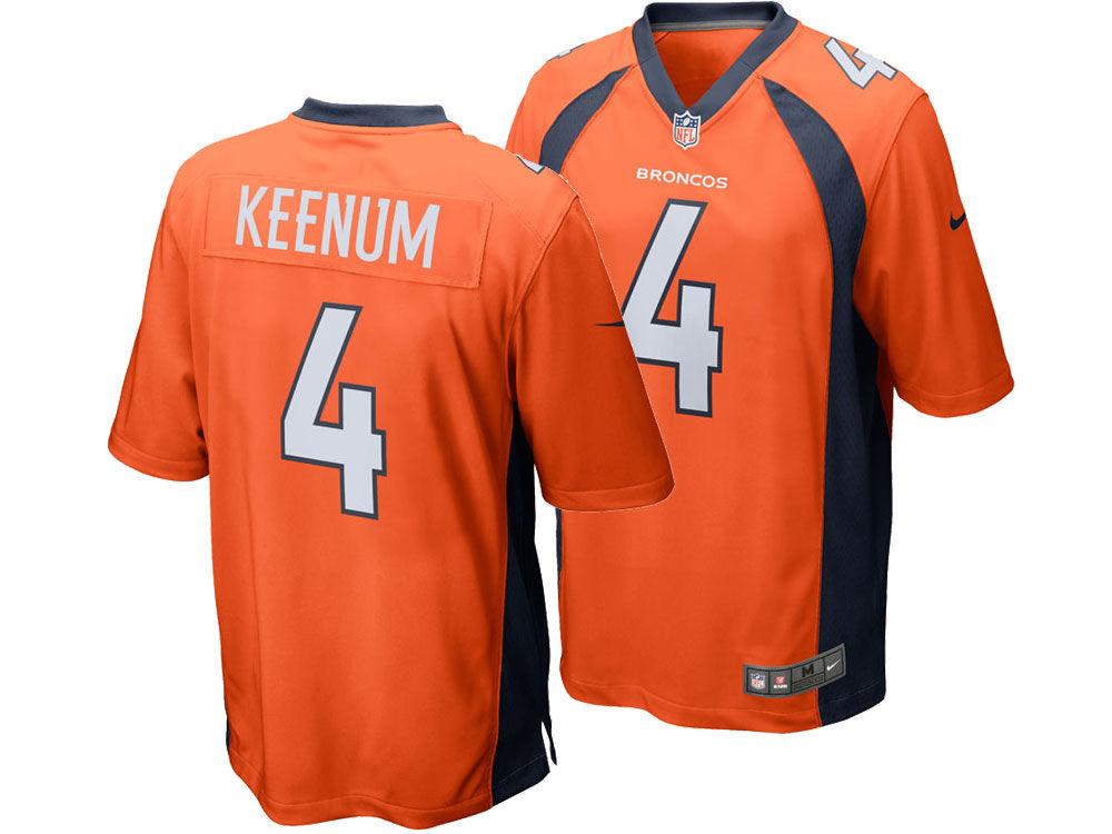 7936ce899df ... 4 NFL T-Shirt One Color; Denver Broncos Case Keenum Nike NFL Mens Game  Jersey ...