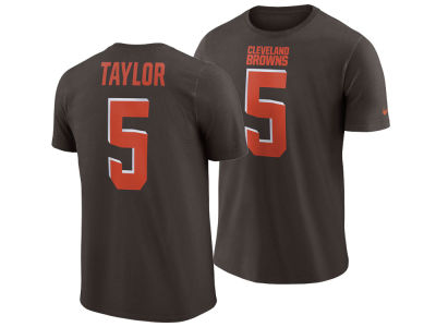 Cleveland Browns Tyrod Taylor Nike NFL Men's Pride Name and Number Wordmark T-shirt
