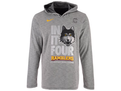 Loyola Ramblers Nike 2018 NCAA Men's Final 4 Bound Long Sleeve Hooded Locker Room T-Shirt