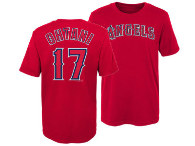 Los Angeles Angels Shohei Ohtani Majestic MLB Kids Official Player T-Shirt