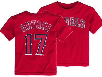 Los Angeles Angels Shohei Ohtani Majestic MLB Toddler Official Player T-Shirt