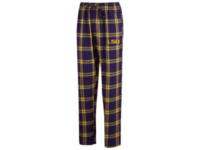 LSU Tigers Concept Sports NCAA Men's Homestretch Flannel Pajama Pant