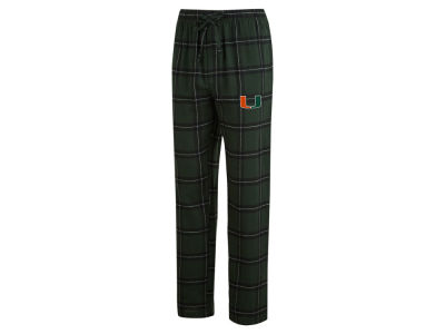 Miami Hurricanes Concept Sports NCAA Men's Homestretch Flannel Pajama Pant