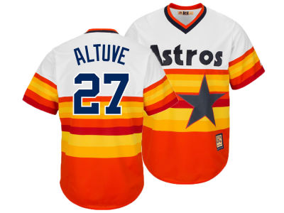 Houston Astros Jose Altuve Majestic MLB Men's Cooperstown Player Replica CB Jersey