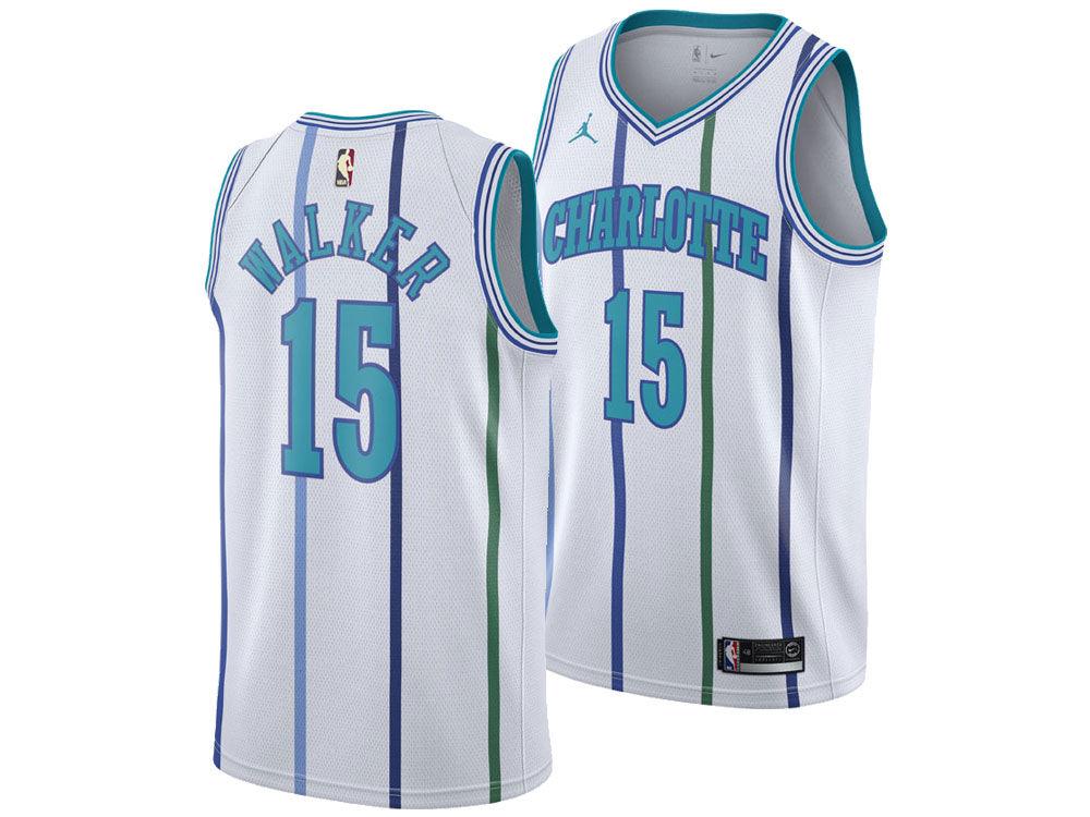 Charlotte Hornets Kemba Walker Nike 2018 NBA Men s Hardwood Classic  Swingman Jersey  b40a97850