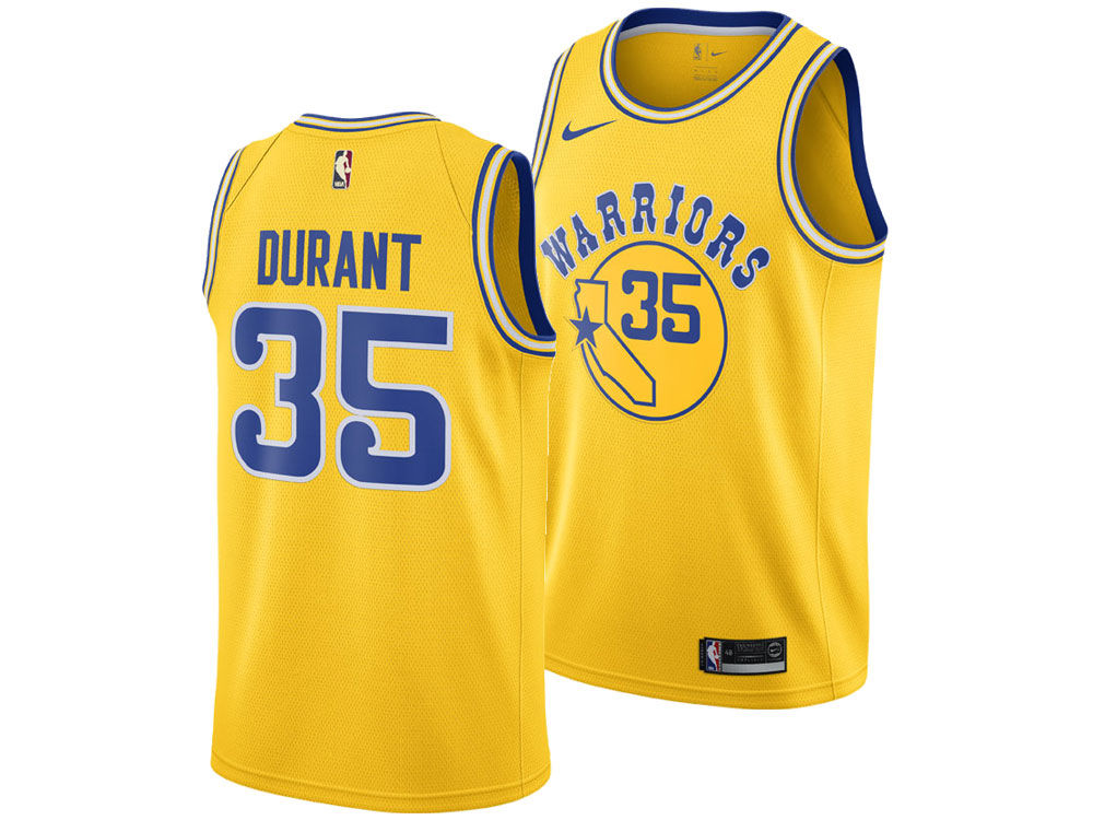 e5ec79a30 Golden State Warriors Kevin Durant Nike 2018 NBA Men s Hardwood Classic Swingman  Jersey