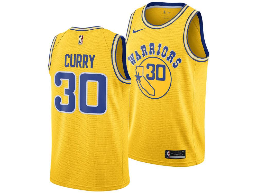 04171916b Golden State Warriors Stephen Curry Nike 2018 NBA Men s Hardwood Classic  Swingman Jersey