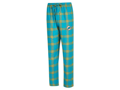 Miami Dolphins Concept Sports NFL Men's Homestretch Flannel Sleep Pant