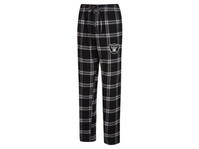 Oakland Raiders Concept Sports NFL Men's Homestretch Flannel Sleep Pant
