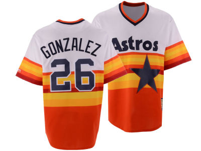 Houston Astros Luis Gonzalez Majestic MLB Men's Cooperstown Player Replica CB Jersey