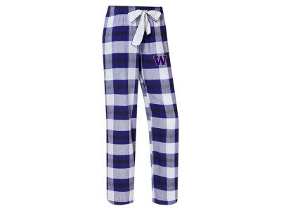 Washington Huskies Concept Sports NCAA Women's Homestretch Flannel Pajama Pant