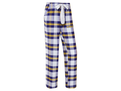 LSU Tigers Concept Sports NCAA Women's Homestretch Flannel Pajama Pant