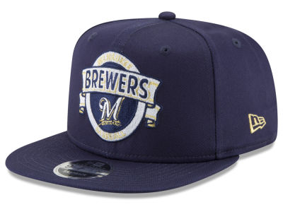 Milwaukee Brewers New Era MLB Banner 9FIFTY Snapback Cap