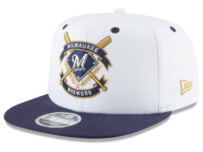 Milwaukee Brewers New Era MLB Crest 9FIFTY Snapback Cap