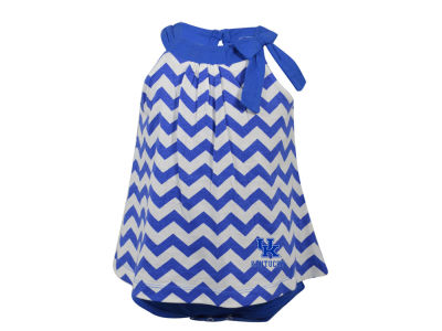 Kentucky Wildcats NCAA Newborn Girls Chevron Creeper