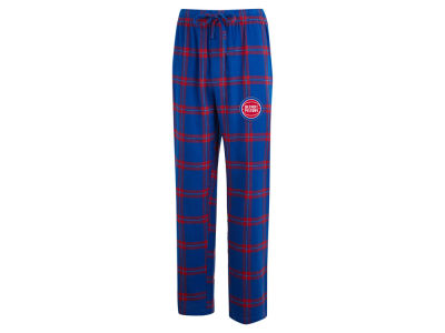 Detroit Pistons Concept Sports NBA Mens Homestretch Flannel Sleep Pant