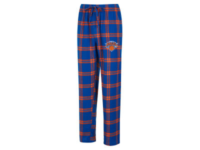 New York Knicks Concept Sports NBA Mens Homestretch Flannel Sleep Pant