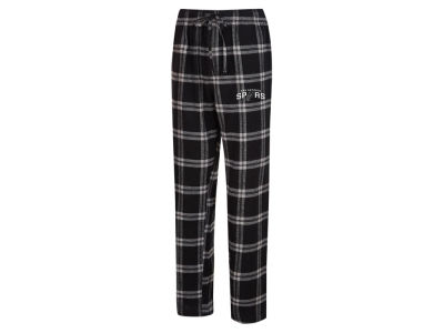 San Antonio Spurs Concept Sports NBA Mens Homestretch Flannel Sleep Pant