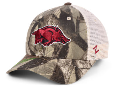 Arkansas Razorbacks Zephyr NCAA Recon Camo Trucker Cap