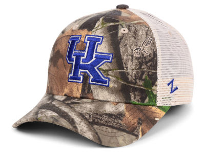 Kentucky Wildcats Zephyr NCAA Recon Camo Trucker Cap