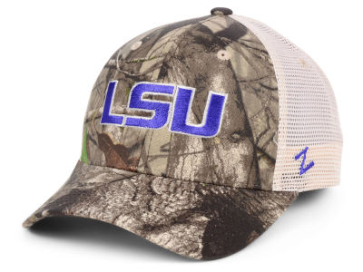 LSU Tigers Zephyr NCAA Recon Camo Trucker Cap