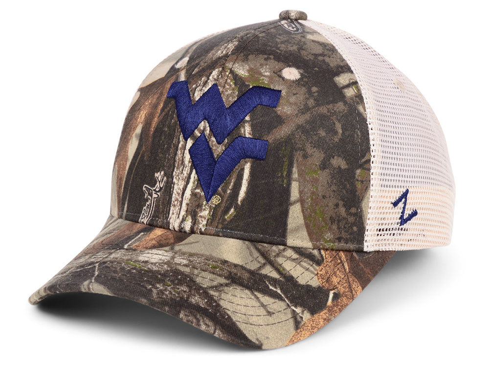 afa9c6bc8ae ... netherlands west virginia mountaineers zephyr ncaa recon camo trucker  cap lids d3546 36a64