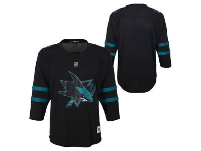 San Jose Sharks Outerstuff NHL Youth Alternate Blank Replica Jersey