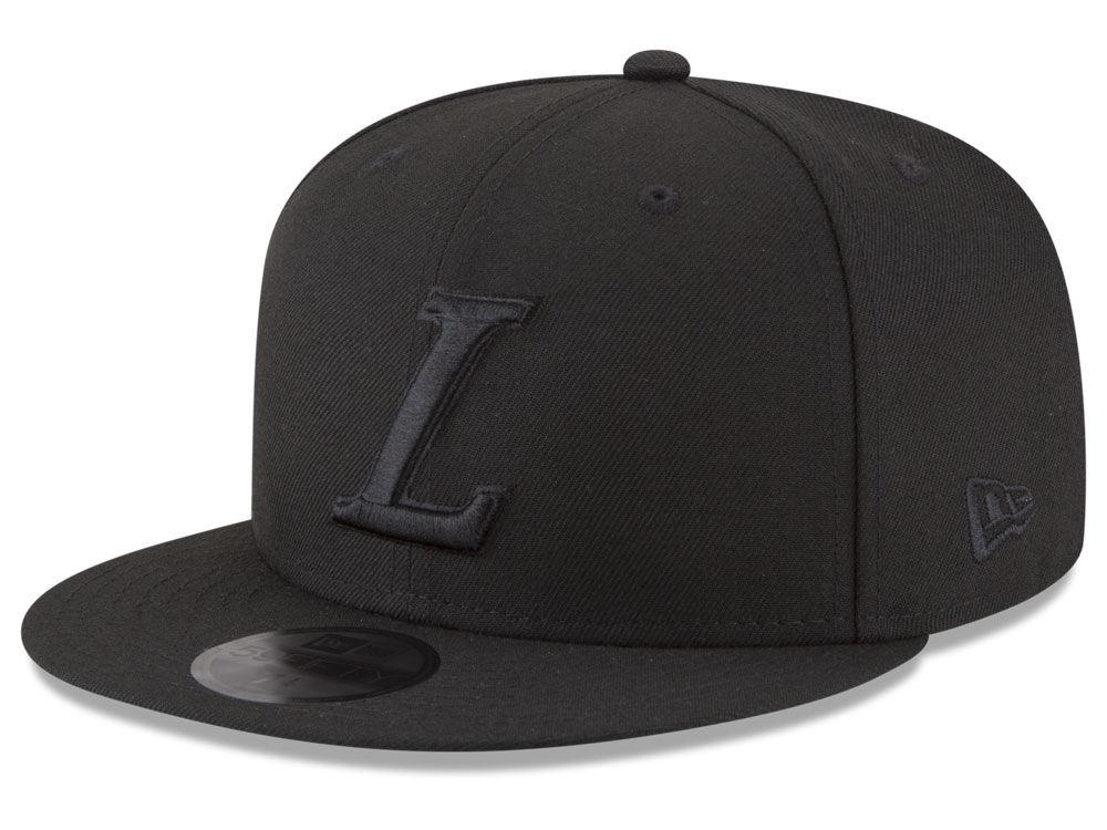 Los Angeles Lakers New Era NBA Alpha Triple Black 59FIFTY Cap  d1776e4c379
