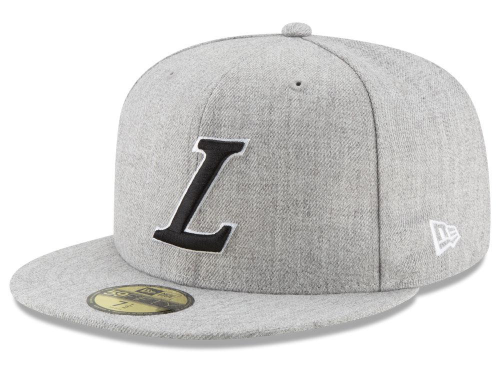 a88112997d3 Los Angeles Lakers New Era NBA Heather Alpha Logo 59FIFTY Cap