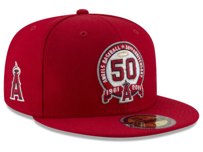 Los Angeles Angels New Era MLB Ultimate Patch Collection Front 59FIFTY Cap