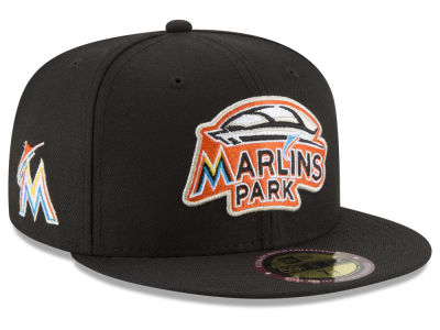 Miami Marlins New Era MLB Ultimate Patch Collection Front 59FIFTY Cap