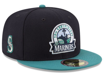 Seattle Mariners New Era MLB Ultimate Patch Collection Front 59FIFTY Cap