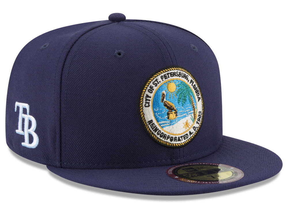 82c717727a6 Tampa Bay Rays New Era MLB Ultimate Patch Collection Front 59FIFTY Cap